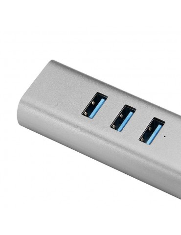 MINIX NEO C-UEGR Adattatore con 3 porte USB 3.0 e Gigabit - Grigi