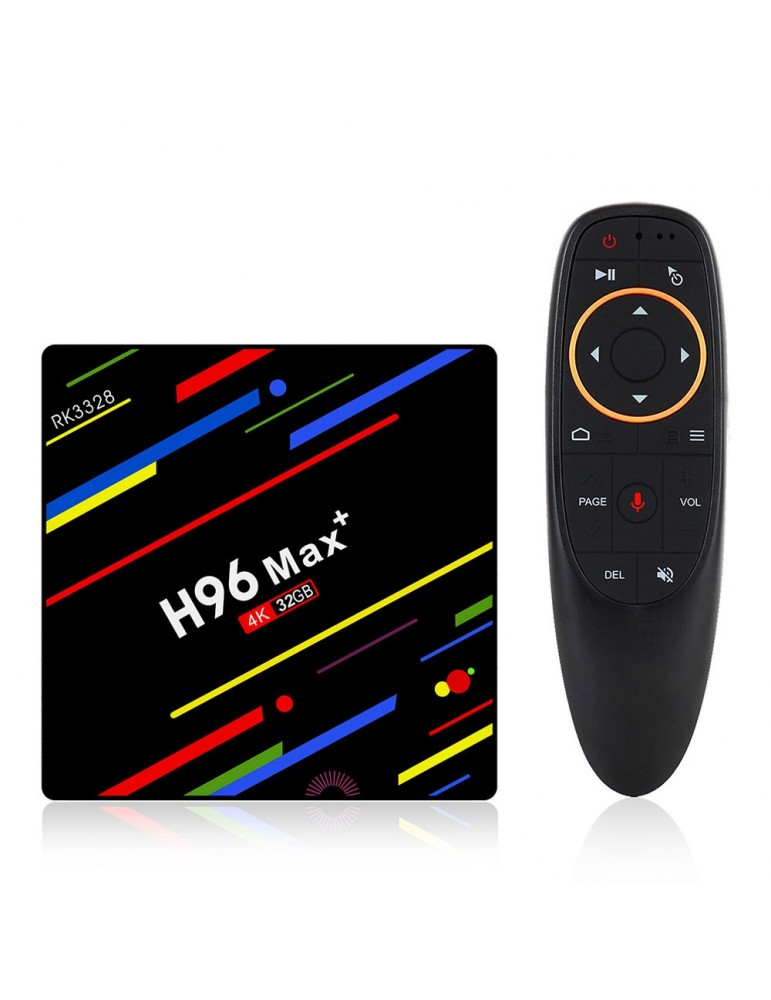 H96 MAX Plus Tv Box Android 4/32GB con telecomando con comandi vocali