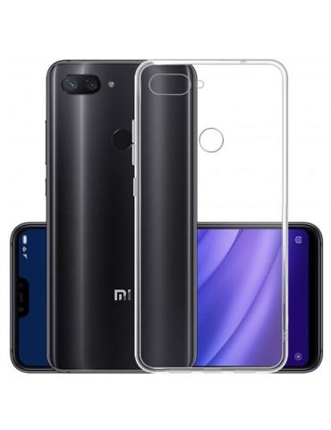 Cover posteriore in silicone TPU per Xiaomi Mi8 Lite - Trasparente
