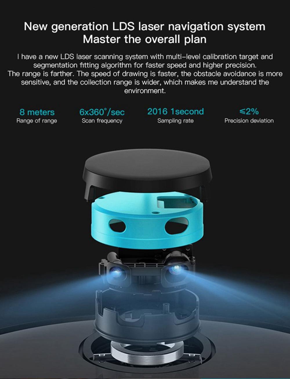 Xiaomi VIOMI V2 PRO Robot Aspirapolvere e Lavapavimenti - Grigio